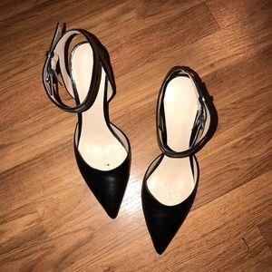 Black Leather Heel
